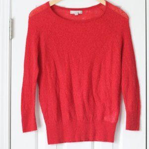 Banana Republic coral red italian yarn sweater